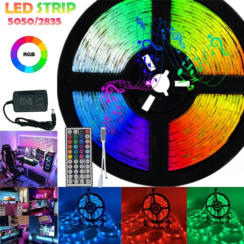 Tiras de Luces Led con Bluetooth y WIFI, cinta Flexible de diodos,...