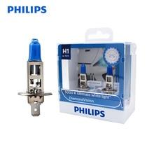 Philips H1 Vision diamant 5000K 12V 55W   Xénon blanc, voiture, phare halogène, ampoules dorigine Auto, lampes lumineuses OEM, 12258DVS2, paire