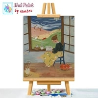 nerdy woman reading book picture diy painting by numbers colouring zero basis handpainted oil painting unique gift home decor
