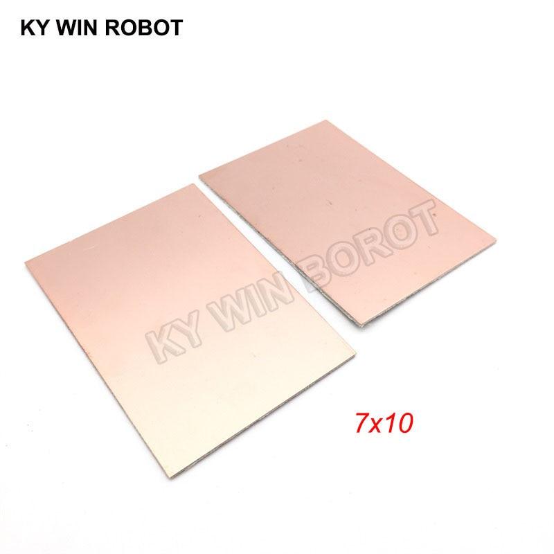 5 шт. FR4 PCB двухсторонняя медная плакированная пластина DIY PCB Kit ламинатная печатная плата 7x10 см