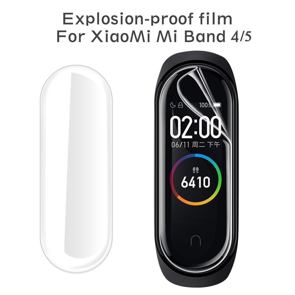 10 шт. Гидрогелевая Защитная пленка для Xiaomi Mi Band 5 защитная пленка для xiomi band 5 4 не закаленное стекло