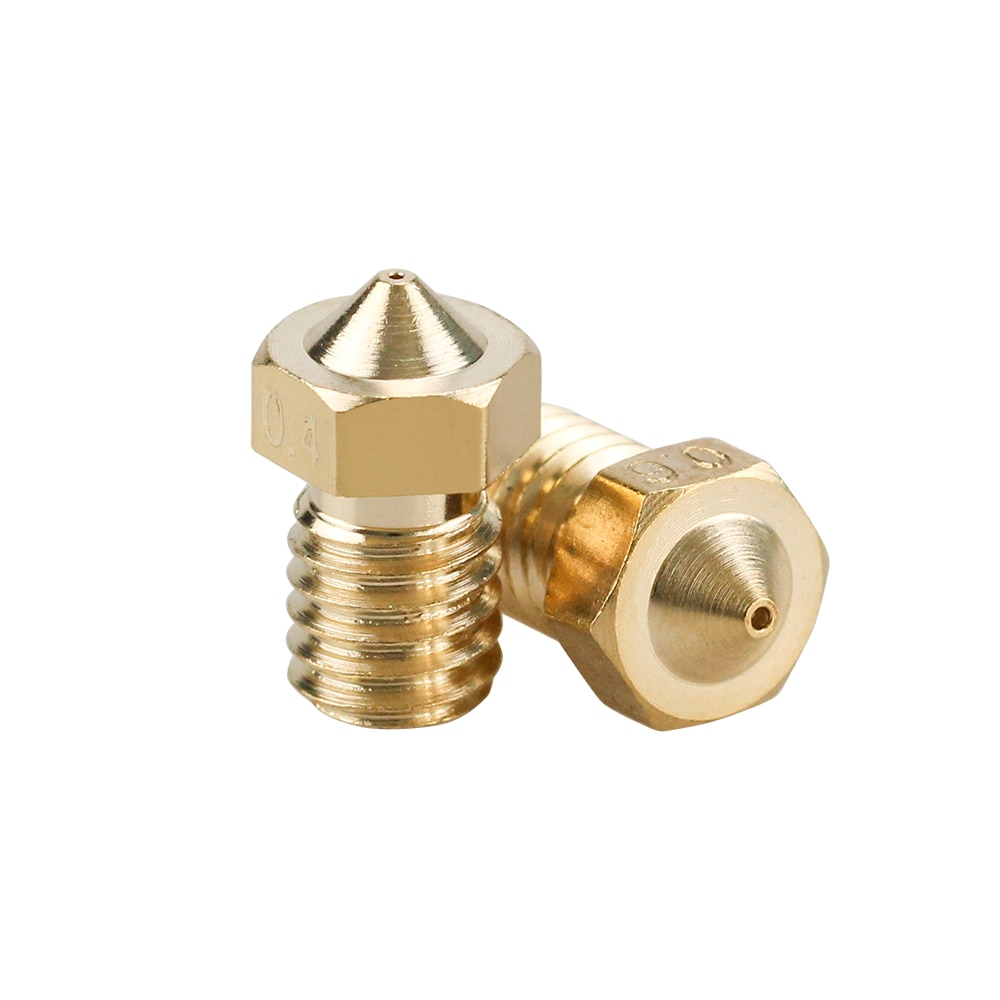 5/10pcs E3D V6 Brass Nozzle 0.2/0.25/0.3/0.4/0.5/0.6/0.8/1.0 For 1.75mm 3mm Filament E3D V6 V5 Copper Nozzle Extruder