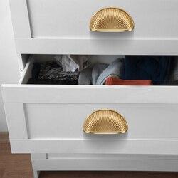 Puxador de porta de armário para gavetas, punho dourado antigo para armário e móveis