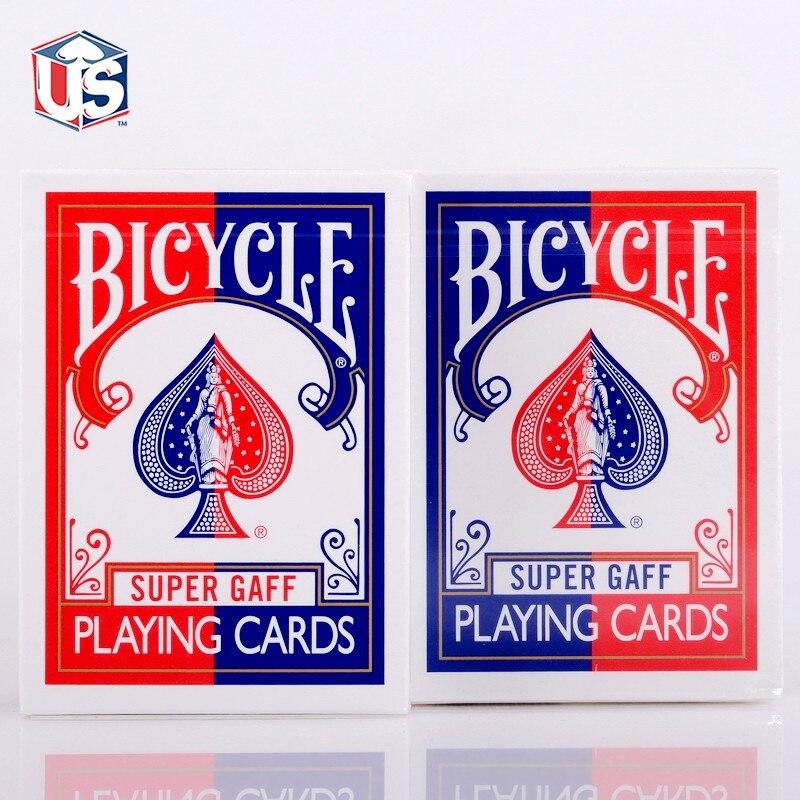 Juego de cartas de magia, 1 Mazo, Super Gaff V2 (azul o rojo), edición de 15
