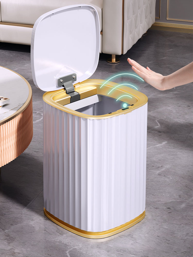 Joybos Automatische Smart Sensor Prullenbak Harp Waterdichte Huisvuilemmer Vuilnisbak Badkamer Keuken Opbergkast Smalle Bin JX95