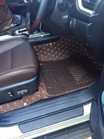 custom full set car floor mats trunk mat for right hand drive toyota fortuner 7 seats 2021 2005 durable double layers carpets