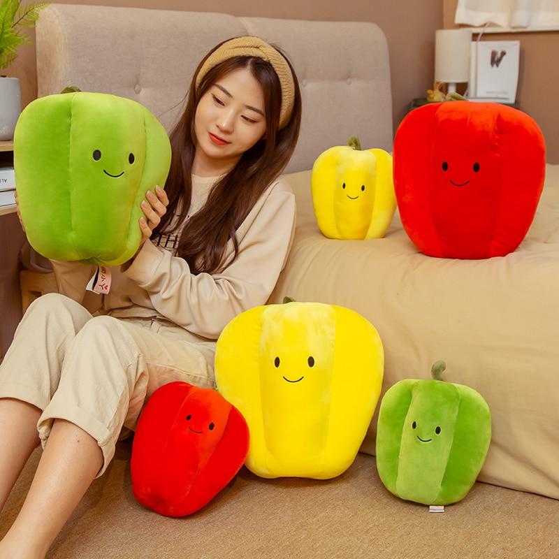 1pcs 23/32cm Simulation Sweet Pepper Plush Pillow Toys Stuffed Vegetables Pepper Pillow Cushion Dolls Creative Toy for Children