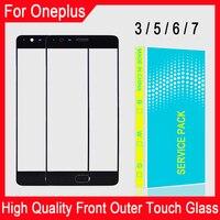 Переднее стекло для Oneplus 3, 3T, 5, 5T, 6, 6T, 7, 7T, 7 Pro, ЖК-дисплей, сенсорная панель дюйма