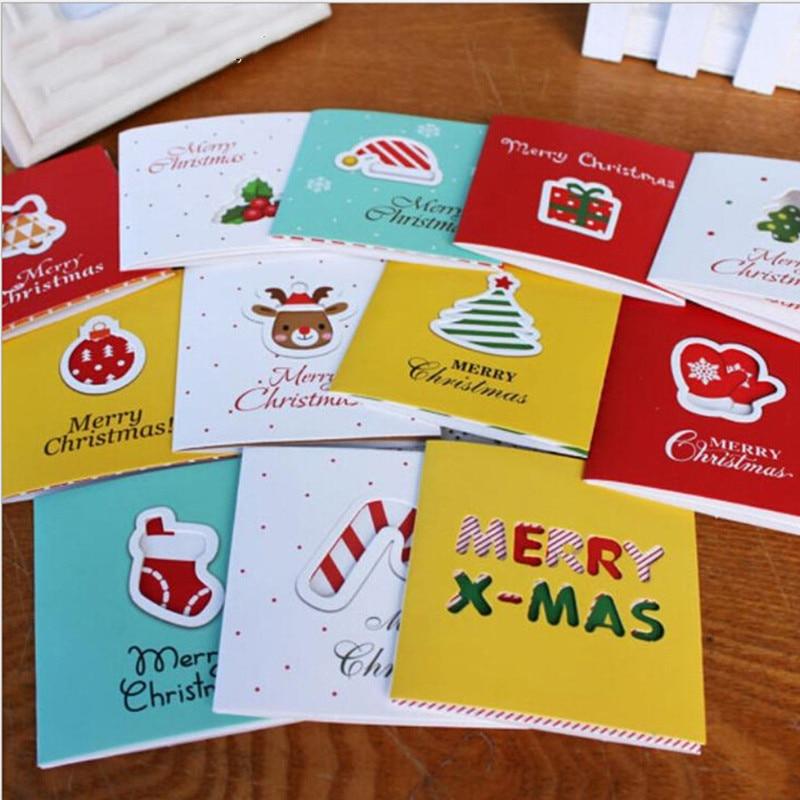 12 шт., рождественские открытки, маленький олень, рождественские открытки, рождевечерние открытки, новогодние открытки, рождественские пода...