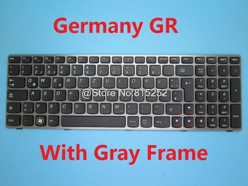 Teclado para Lenovo Z580 G580 G580A G585 G585A V580 B580 B580A P580 P585 N580 N581 N585 N586 G780 Alemania GR TR inglés nos SW HB