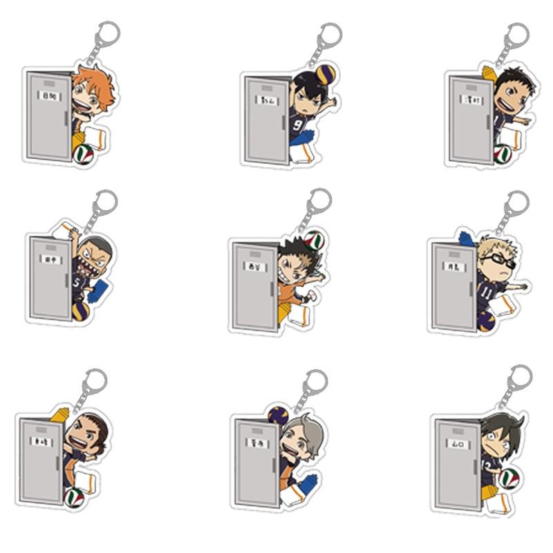 Haikyuu!! To The Top Hinata Shouyo Tobio Kageyama Daichi Sawamura Key Chain Anime Karasuno High Volleyball Stars Figure Keychain