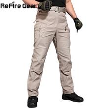 ReFire Gear New IX8 Cargo Pants Men Tacitical Muti Pockets SWAT Army Combat Pant Male Military Assault Cotton Workout Trousers