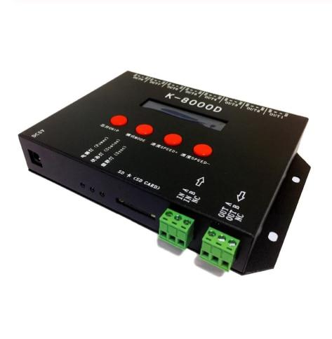 K-8000D ؛ 8 منافذ (512 بكسل * 8)DMX بطاقة SD وحدة تحكم في البكسل ؛ دعم معيار dmx512 رقاقة/DMX512AP-N/WS2821A ؛ وظيفة الكاتب العنوان