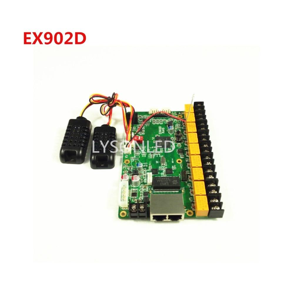 Linsn EX902D متعددة الوظائف LED بطاقة Repalce linsn EX901 متعددة الوظائف دعم درجة الحرارة الرطوبة سطوع الاستشعار
