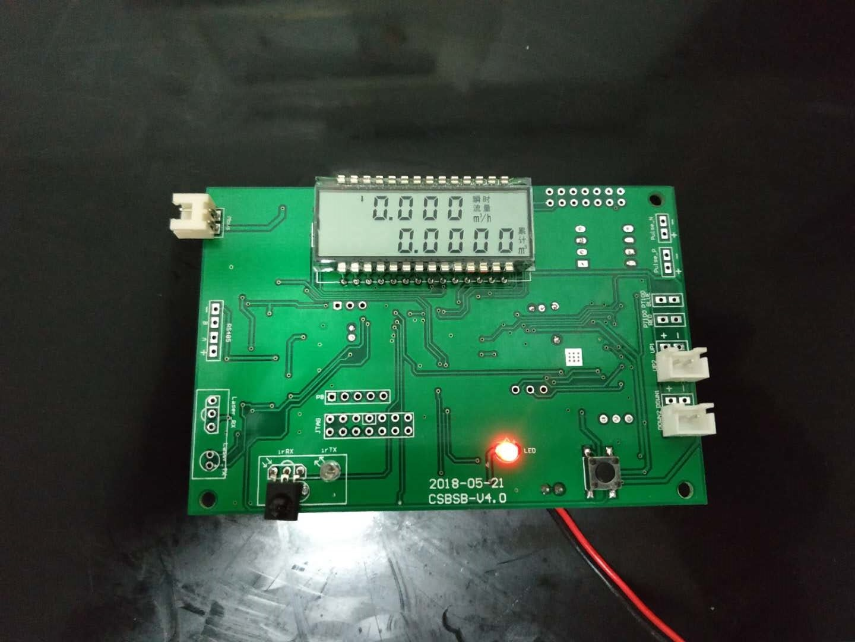 TDC-GP22 مقياس الماء فوق الصوتي التصحيح مجلس التنمية مع شاشة الكريستال السائل وقسم أنبوب اختبار التدفق