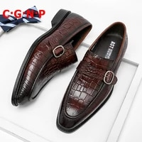 c%c2%b7g%c2%b7n%c2%b7p crocodile pattern 100 genuine leather loafers men business casual shoes slip on dress shoes italian formal wedding shoe