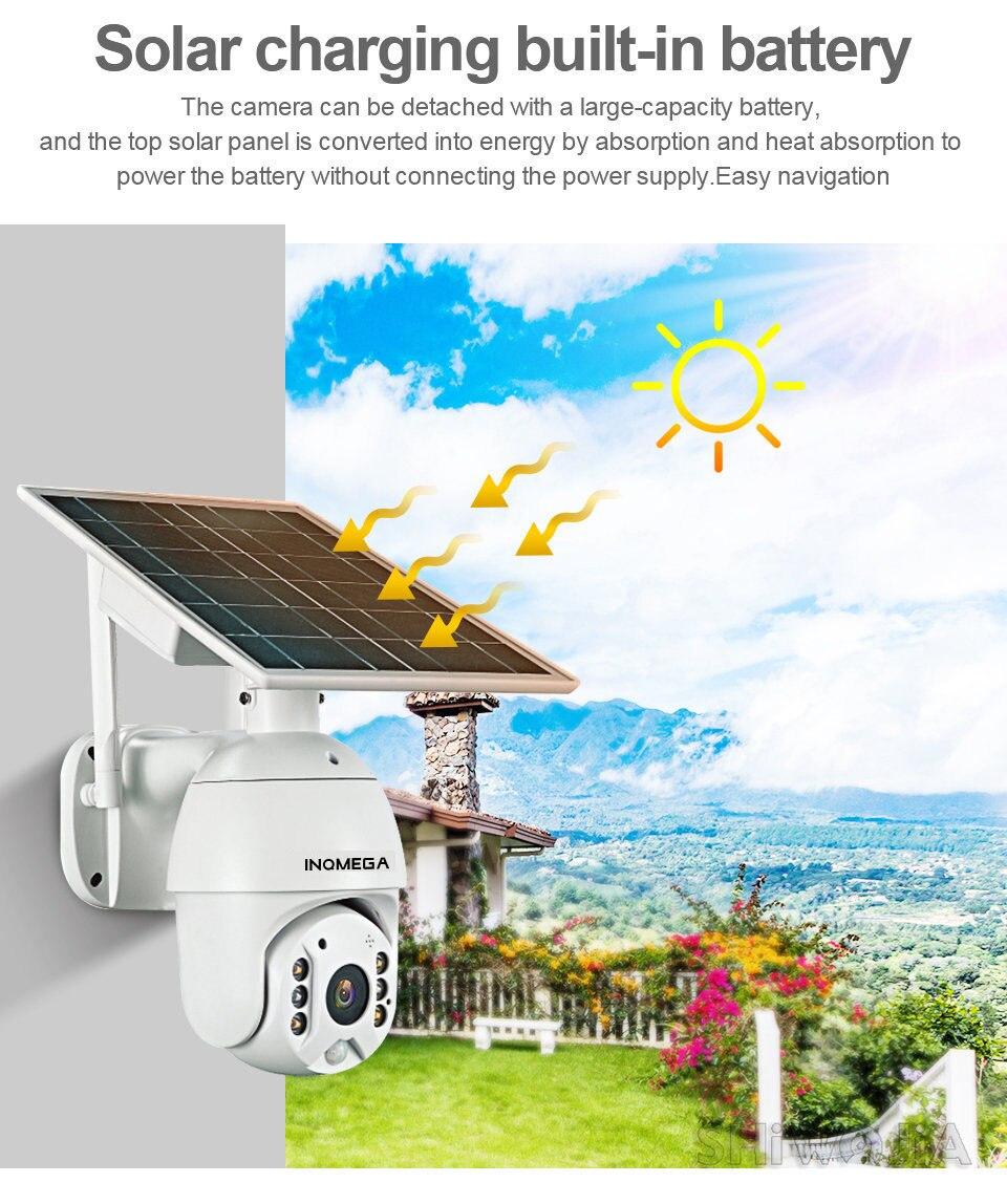 IINQMEGA WIFI Solar Camera 1080P Cloud Wireless IP Camera Shell Sola HD Outdoor Wi-fi Security Surveillance Waterproof Outdoor C