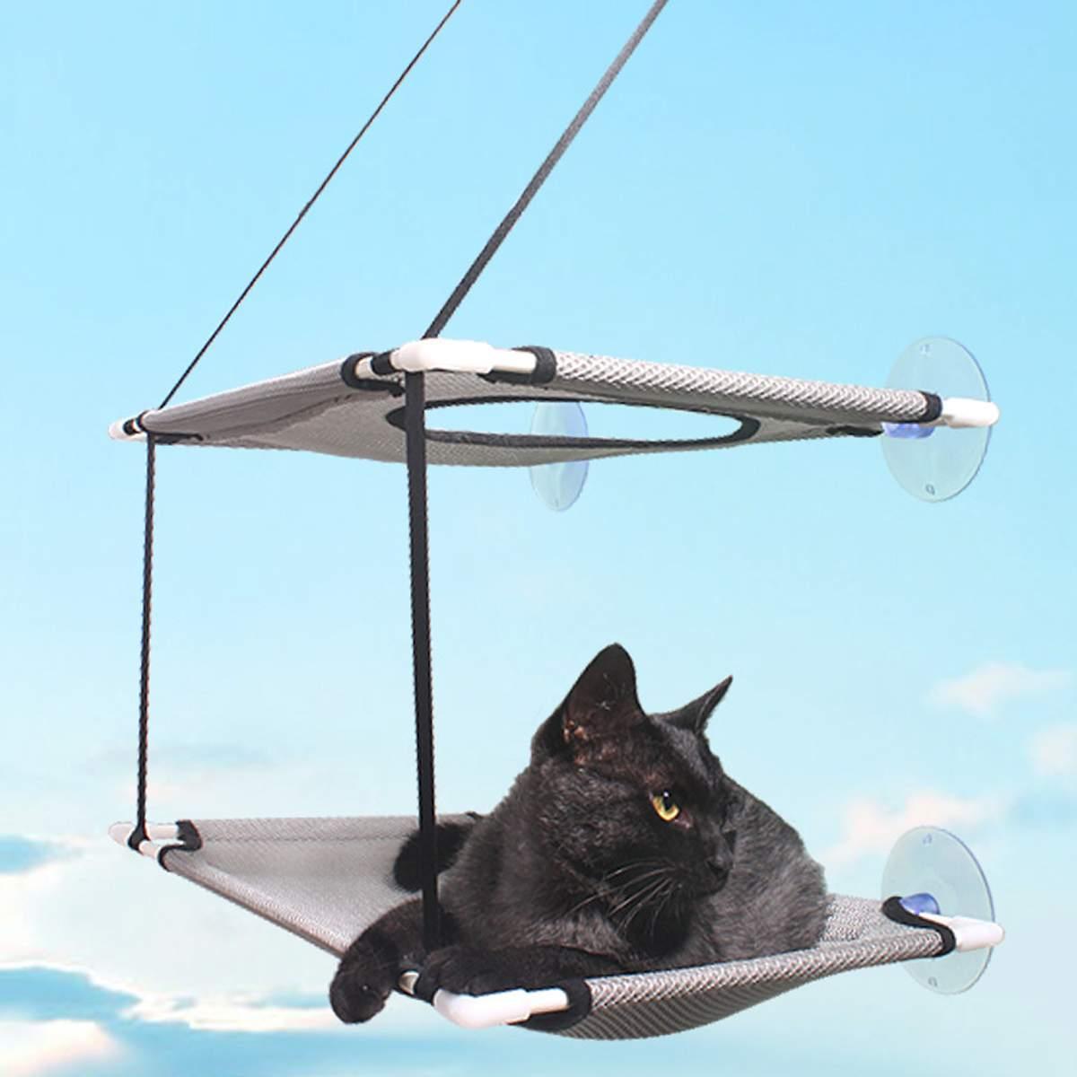 10-20 кг двухслойный гамак для домашних животных кошачий подстилка для дома на присоске подвешивающая кровать коврик для отдыха товары для ко...