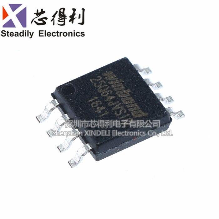 10 pçs/lote Original W25q64jvssiq SOIC-8 64 Pi Mbit de Memória Flash