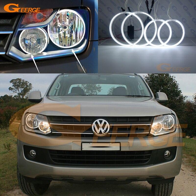 Excelente anillo Halo de kit de ccfl tipo Ojo de Ángel Ultra brillante para Volkswagen VW Amarok 2010 2011 2012 2013 2014 2015 2016 halógeno HD