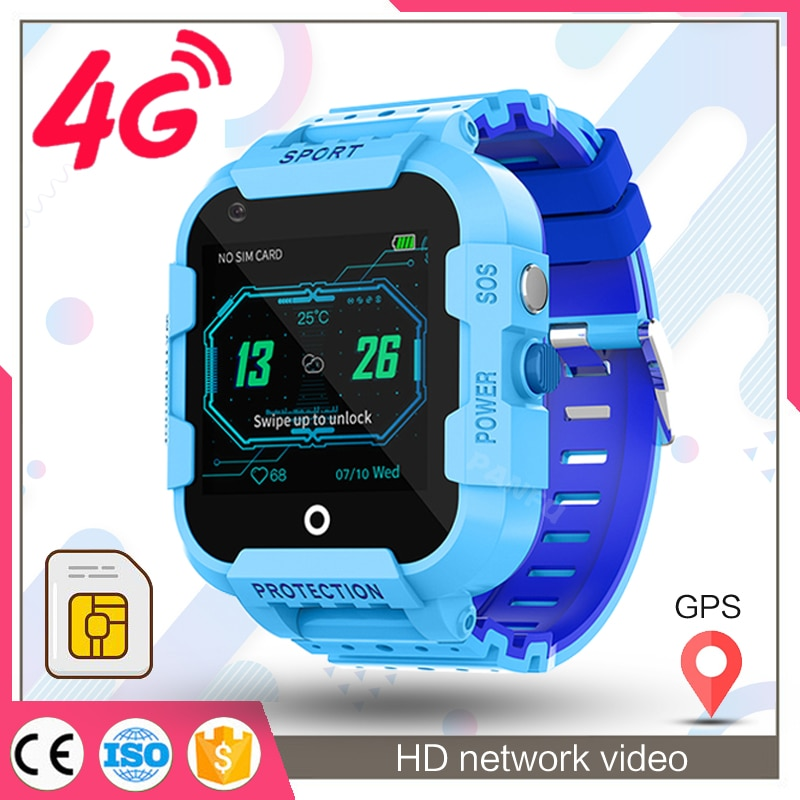 Smart Watch Kids GPS 4G wristwatchremote silent call back monitoring HD network video chat support t