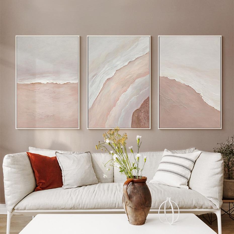 Póster abstracto de playa, mar, olas, Bohemia, pintura en lienzo, decoración Interior moderna para el hogar, arte de pared imprimir imagen Decoración Para sala de estar