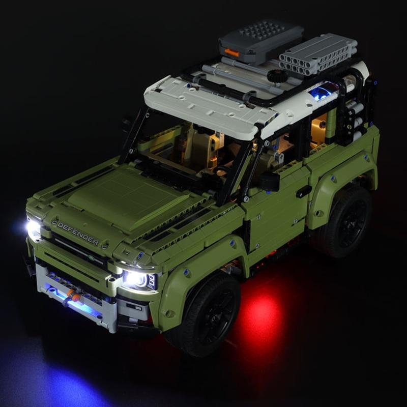 Nuevo juego de luces LED para Land Rover Defender Compatible con 42110 de 93018 la técnica de bloques de construcción Lepinblocks lepinbricks