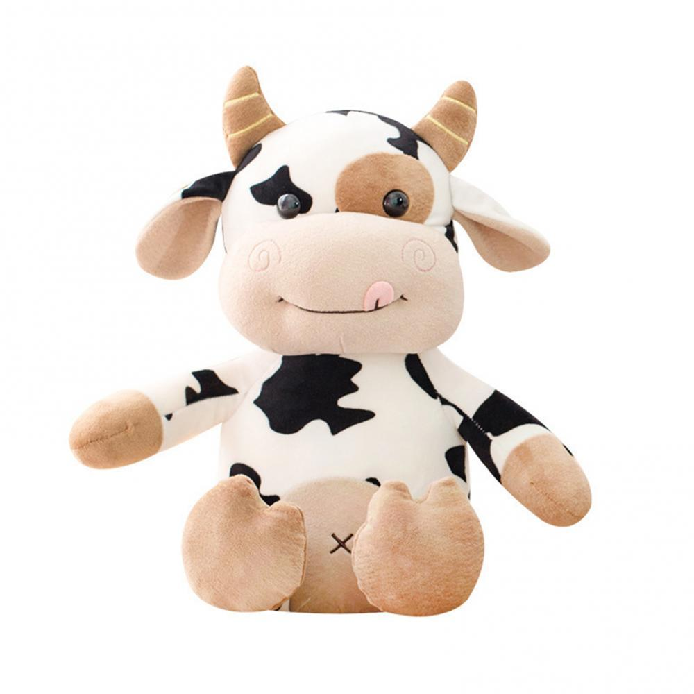 new 25 35 50cm kawaii sitting milk cow plush toys lifelike stuffed animal doll cute cattle toys for children kids christmas gift 2021 35/50cm New Plush Cow Toy Cute Cattle Plush Stuffed Animals Long Legs Cattle Soft Doll Kids Toys Birthday Gift for Children