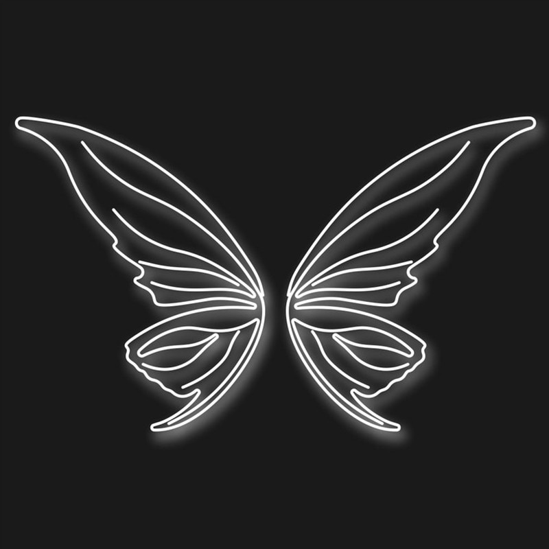 Fairy Wings Led Neon Sign Custom Neon Sign Light Wedding Decor Party Decor Wall Decor Photo Zone Store Decor Wings Sign