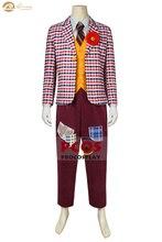 ProCosplay Joker origine Arthur Fleck cosplay Francy robe fête rayure manteau jaune gilet Halloween Clown costume pour hommes mp005168