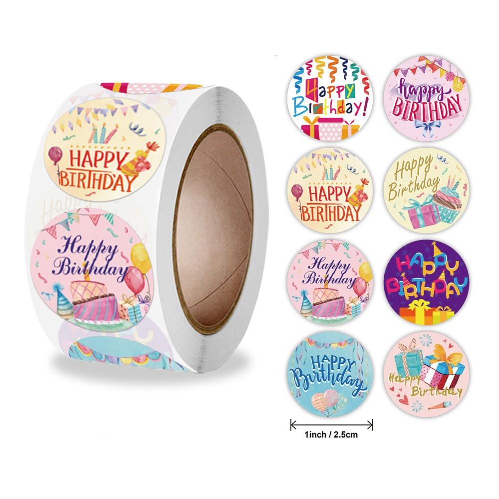 pegatinas-de-feliz-cumpleanos-para-decoracion-de-fiestas-etiquetas-de-sellado-adhesivo-de-papeleria-hecho-a-mano-autoadhesivo-50-500-uds