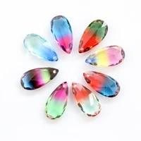 920 teardrop pendants fancy stone waterdrop pointback tourmaline rhinestone with hole for diy jewelry decoration