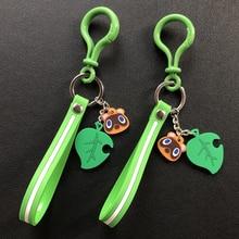 2020 Hot Switch jeu Animal croisement porte-clés mode Animal croisement voiture porte-clés breloque sac pendentif mignon PVC feuille porte-clés cadeau