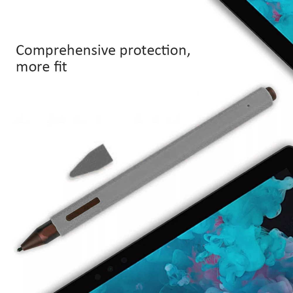 1 carcasa de silicona PC lápiz manga lápiz pluma Carcasa protectora para Surface Pro antideslizante y duradero 8 colores