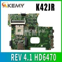 NEW!!!USB board+K42JR REV 4.1 HD6470 512M For ASUS X42J K42J K42JR K42JZ K42JB K42JY K42JE laptop Motherboard mainboard DDR3