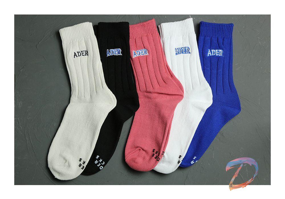 Ader Error носки высокого качества с вышитыми буквами толстый игла с хлопковой подошвой печать Адер для мужчин и женщин, свадебная мода пара, нос...