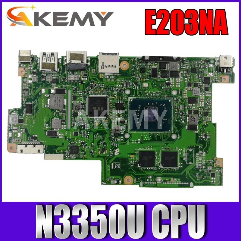 اللوحة الام اسوس E203N E203NA E203M E203MA Laotop اللوحة الام N3350U 2G RAM 64G SSD اختبارها 100% OK