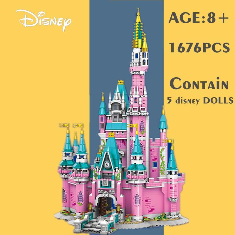 Новый Disney 1676 шт. Микки и Минни Маус «Дональд Дак» сказочную принцессу замок Друзья Девушки конструкторных блоков, Детские кубики, игрушки дл...
