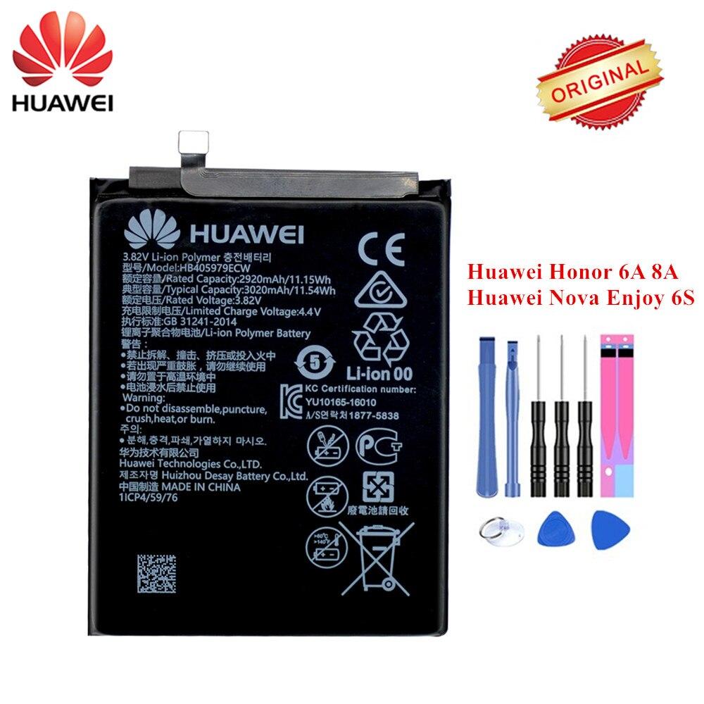 Original Hua Wei Battery HB405979ECW For Huawei Honor 6A Honor 8A DLI-AL10 AL10B TL20 L22 Huawei Nova Enjoy 6S Honor 6C Y5 2017