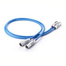 Cardas lumière claire XLR câble équilibré fibre de carbone 3pin XLR prise amplificateur CD DVD lecteur interconnexion câble Audio