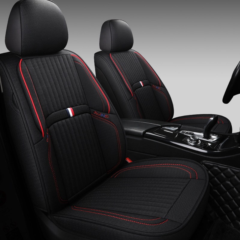 Cubierta completa de fibra de lino para asiento de coche, cubiertas para asientos de coche para Toyota CORONA EXSIOR FJ CRUISER FT86 HARDBODY