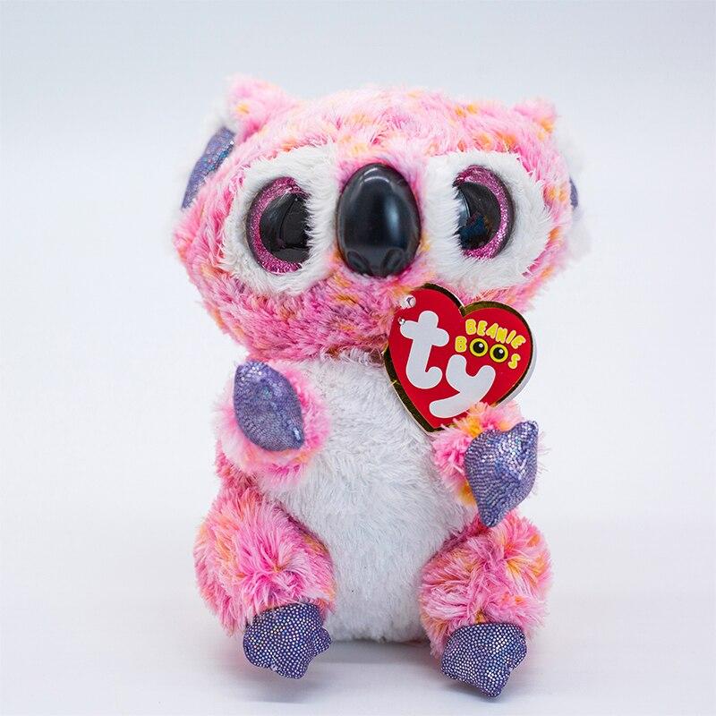 15 см Ty мягкие плюшевые животные Кайси розовая коала игрушка Большой Глаз Мягкие Игрушки для девочек Рождественский подарок на день рождени...