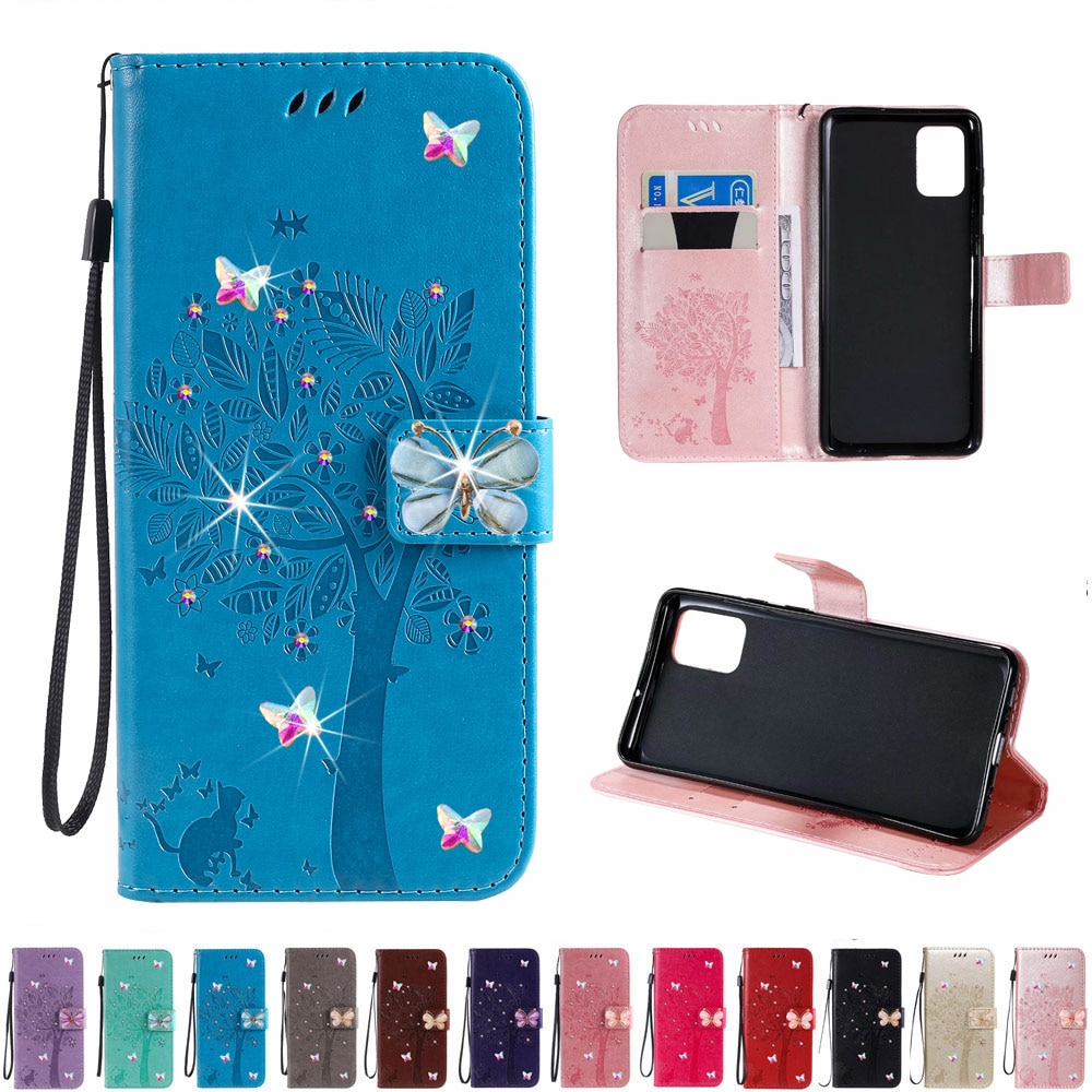 Sunjolly diamante para Samsung Galaxy S7 borde S6 Edge Plus S3 mini S5 S4 mini Flip cartera cubierta de la caja del teléfono Rhinestone coque