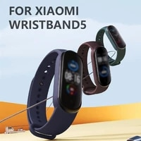 new replacement for m5 strap bracelet for xiaomi mi band 5 strap silicone black wrist strap for miband 5 wriststrap bracelets