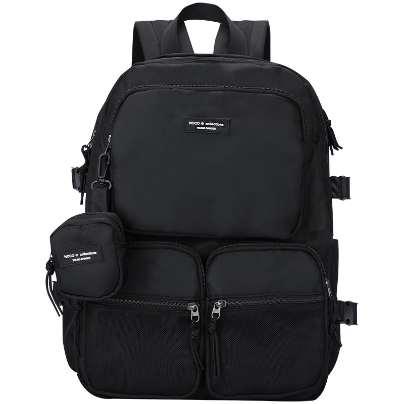 SenkeyStyle Backpacks for Teenager Men Large Capacity Black Male Backpack for Laptop Traveling Multi