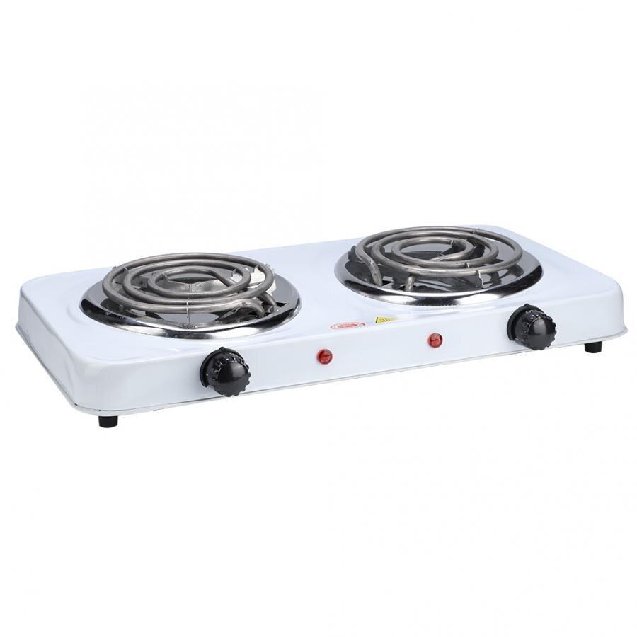 Quemadores eléctricos dobles placa caliente de la estufa del Buffet de la placa de calefacción de la estufa al aire libre 220V EU 2000W