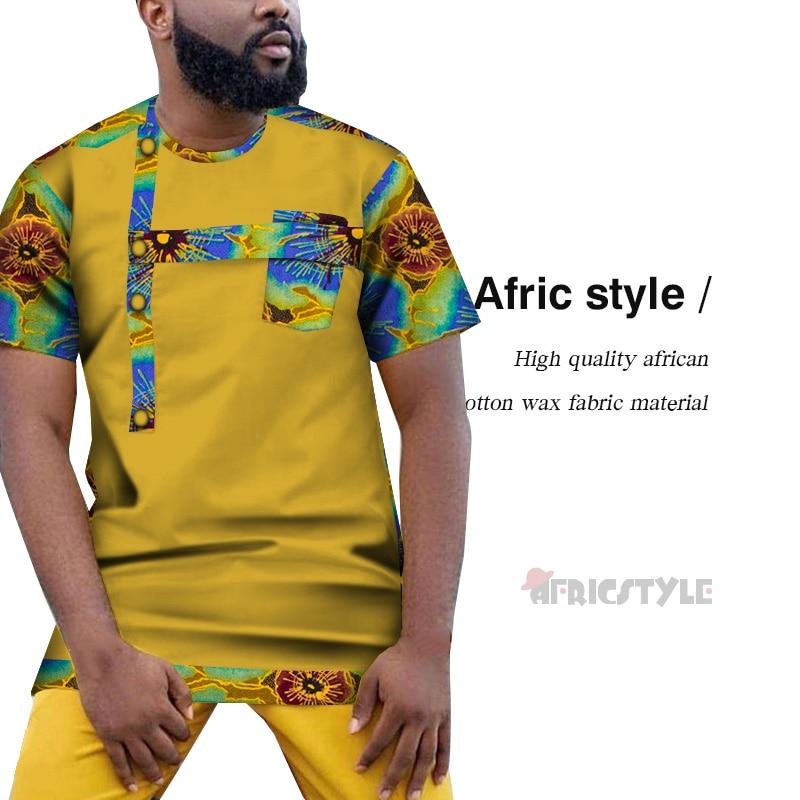 2020 African men's top African t-shirt African men's clothing Nice African t - shirt Dashiki Clothing Short Sleeve WYN1123