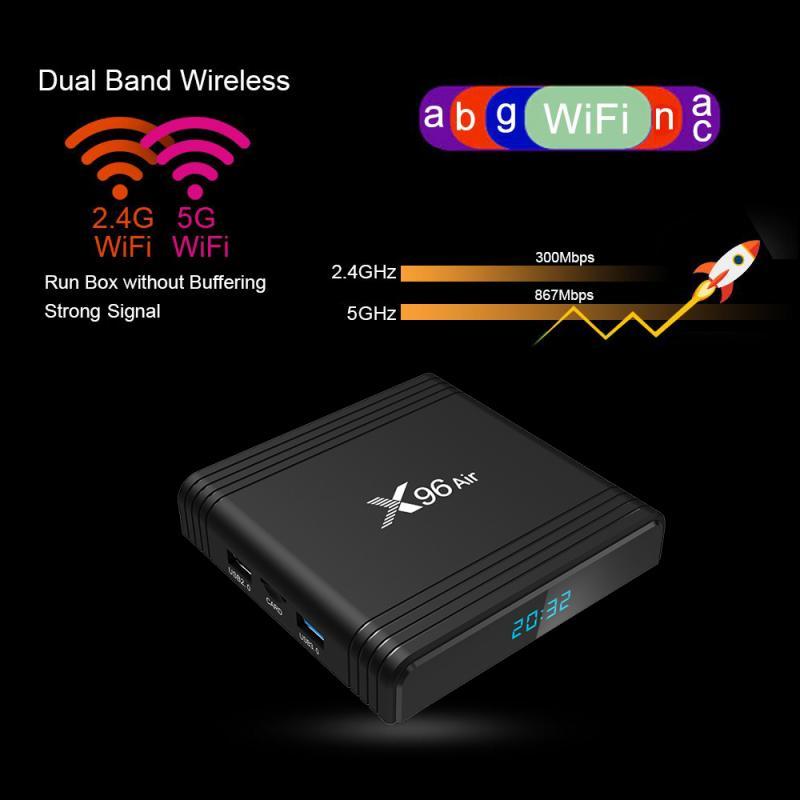 X96 G/16G/32G/64G mini Android 9,0 de EU/US/UK/es IP TV Box Quad Core QHDTV Set Top Box mini decodificador IPTV X96 reproductor de medios