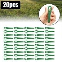 20 pcs trimmer blades replacement for garden trimmers trimmers and lawn mower blades for bosch alm28 alm30 art23li accutrim