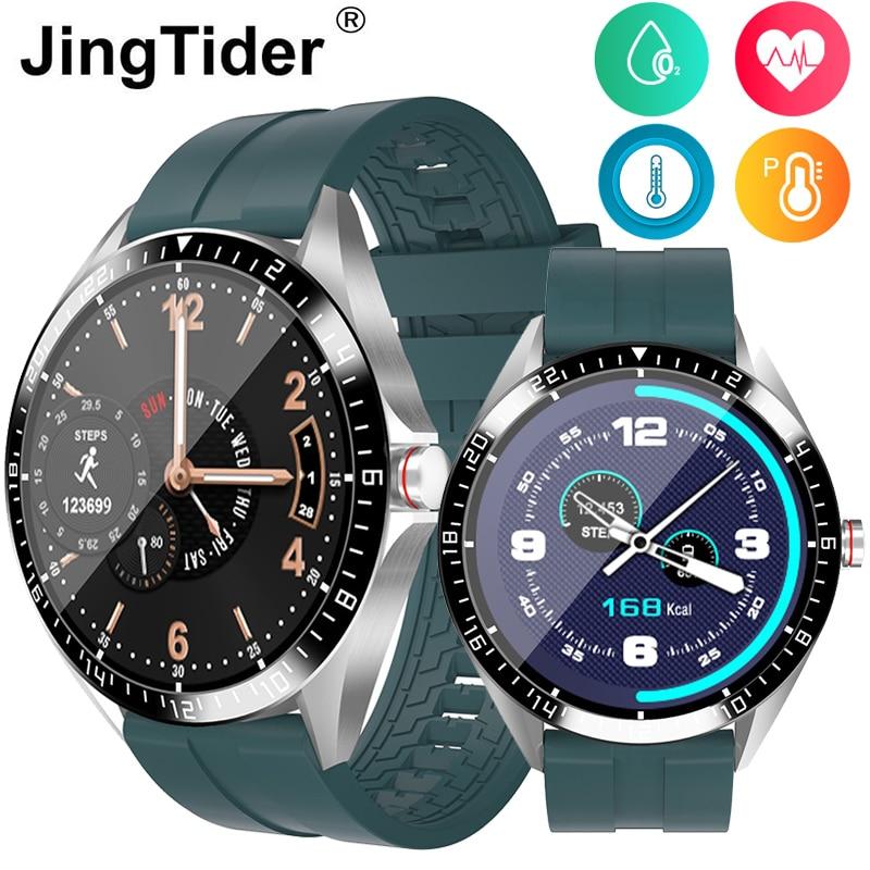 """GW16 pulsómetro reloj deportivo inteligente presión arterial oxígeno pulsera inteligente temperatura pulsera IP67 impermeable 1,28 """"redondo"""